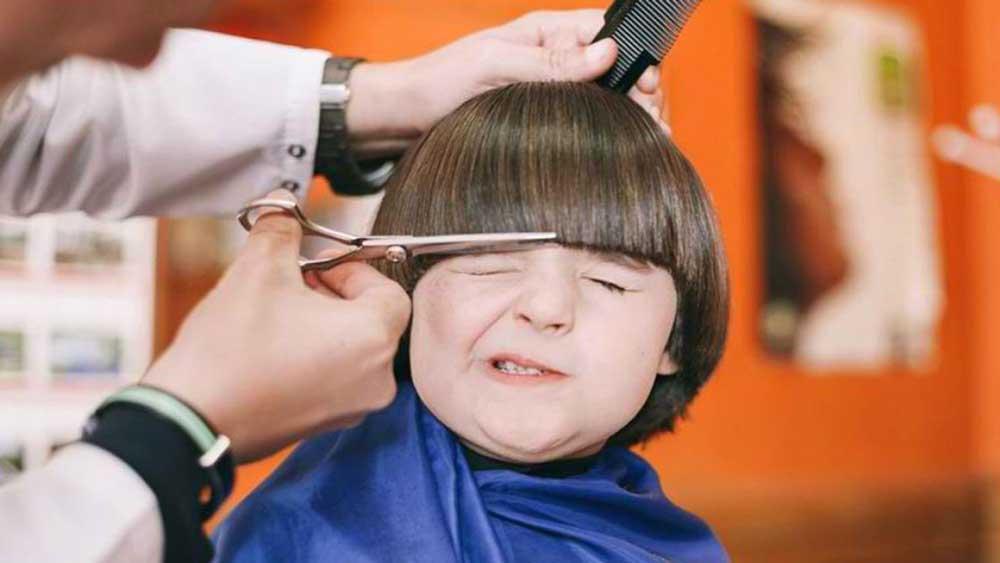 کوتاه کردن موی کودکان
